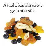 Aszalt, kandírozott gyümölcsök