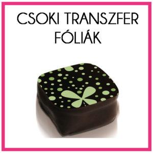 Csokoládé transzfer fóliák