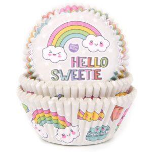 cukrászdiszkont muffin papír szivárvány édesség