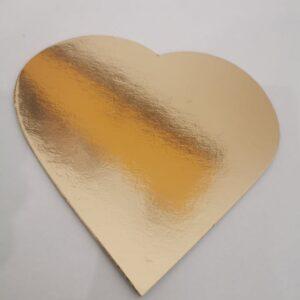 cukrászdiszkont arany szív 12cm 100db