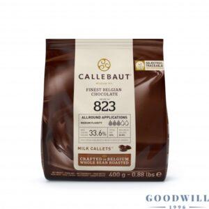 cukrászdiszkont callebaut tejcsokoládé 3,6% 400gr