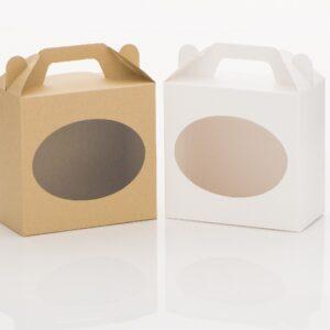 cukrászdiszkont natúr doboz desszert ablakos füles