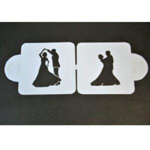 cukrászdiszkont stencil táncoló pár